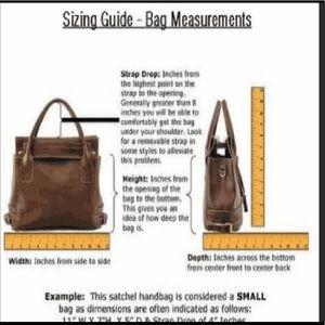 How handbag measurements are taken